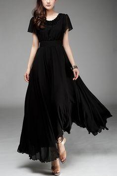 Pretty long black Chiffon Dress
