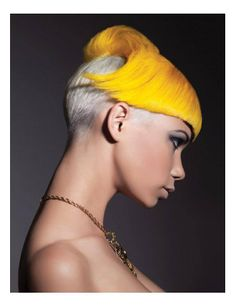 Seeing the artistic visions of hair styles that have helped shape fashion trends around the world. Creative Hairstyles, Funky Hairstyles, Short Hairstyles For Women, Wild Hairstyles, Gorgeous Hairstyles, Short Hair Cuts, Short Hair Styles, Vibrant Hair Colors, Very Short Haircuts