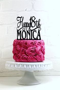 #Happy 18th #Birthday Cake #Topper Personalized with Name and Age,  View more on the LINK: http://www.zeppy.io/product/gb/3/242362847/