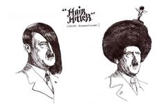 I didn't know Hitler is also hip in the hair fashion.