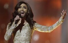 She is yet to perform in the Eurovision Song Contest semi-final, but already bearded Austrian drag queen Conchita Wurst has found herself in the spotlight. Eurovision 2014, Eurovision Song Contest, Eurovision Songs, Bearded Lady, Victoria, Best Dance, Have A Laugh, Air Show, Photos Of The Week