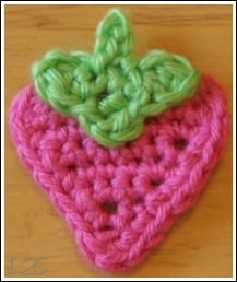 A little strawberry appliqué pattern