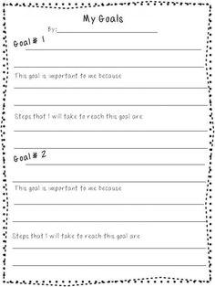 Free Printable Goal Setting Worksheet - Planner setting goals ...