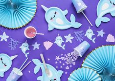Mermaid Parti range assiettes serviettes Toppers Bunting