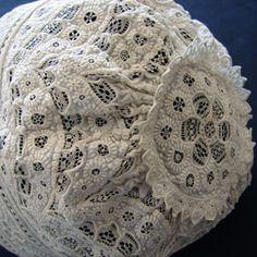 2e27f9b389e4 Maria Niforos - Fine Antique Lace, Linens   Textiles   Antique Christening  Gowns   Children s Items Page Two. Tissus-anciens · Bonnets anciens de bébé