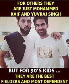 Like if you agree that these two were the best fielders in the team at that time!  Via: @cricket_shaukeens