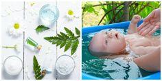 Aprenda a fazer banhos sensoriais de ervas para relaxar os bebês