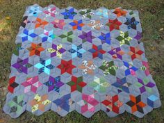 CROCHET QUILT  by the Crochet Crowd consisting of diamonds and half diamonds