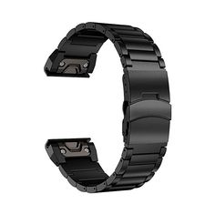 09e4c534f3eba8 LDFAS Fenix Plus Band Sport Quick Release Easy Fit Stainless Steel Metal  Bands Safety Buckle Compatible for Garmin Fenix Smartwatch Black ** For  more ...