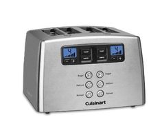 #bestoftheday #FF Cuisinart Touch 4 Slice Toaster CPT-440 review This is a lever-less Cuisinart toaster that provides motorized control. With the touch of a button, you can lower items into the extra wide slots of this innovative toaster. A sleek control panel with a back-lit LCD display brings new age technology...