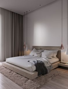 Home Interior Design .Home Interior Design Minimal Bedroom, Modern Master Bedroom, Modern Bedroom Design, Master Bedroom Design, Home Interior Design, Luxury Interior, Bedroom Designs, Bedroom Design Minimalist, Modern Bedrooms