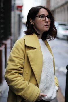 Manteau jaune #vegan