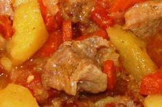Estofado de cerdo con patatas (olla rápida)