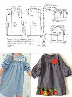 VK is the largest European social network with more than 100 million active users. Kids Dress Patterns, Kids Clothes Patterns, Sewing Kids Clothes, Baby Sewing, Clothing Patterns, Skirt Patterns, Coat Patterns, Blouse Patterns, Children Clothes