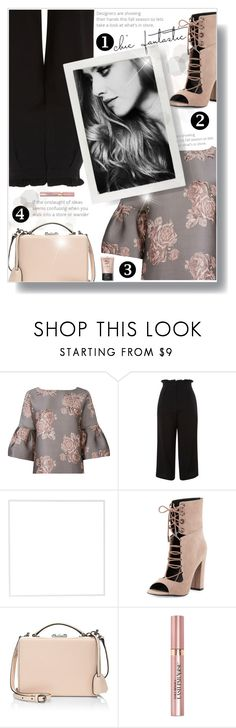 """Untitled #698"" by beautifulplace ❤ liked on Polyvore featuring Badgley Mischka, Topshop, Menu, Kendall + Kylie, Mark Cross and L'Oréal Paris"