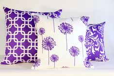 """14/""""  16/"""" 18/"""" 20/"""" New Cushion Cover Postage Stamp Yellow Purple Red Orange Design"""