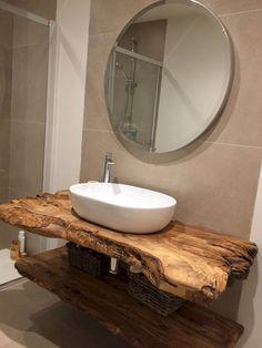 rustic Bathroom Decor The Top Rustic Small Bathroom Ideas With Wooden Decor Wooden Bathroom, Small Bathroom, Bathroom Ideas, Bathroom Vanities, Bathroom Storage, Bathroom Cabinets, Bathroom Designs, Sinks, Relaxing Bathroom