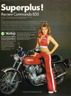 Norton ad from the early 1970s. This is part of a set of similar styles