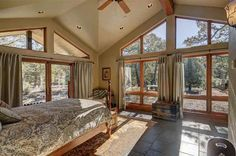 Wake up every morning to warm & inviting natural light in this gorgeous master bedroom | 113 Thunderbird Road, Hesperus CO: 3 bedroom, 3 bathroom Single Family residence built in 2001.  See photos and more homes for sale at https://www.coldwellbanker.com/property/113-THUNDERBIRD-RD-HESPERUS-CO-81326/89307927/detail?utm_source=pinterest&utm_medium=social&utm_content=home