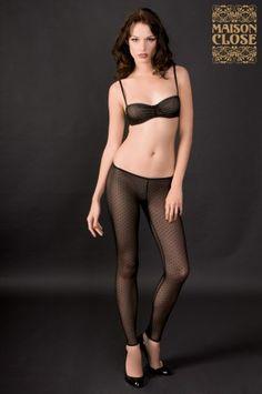 Parisian Style : dotted mesh Leggings - Rue des Demoiselles - Maison Close