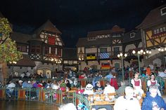 Biergarten in Germany is our fave at Epcot (great food and show)