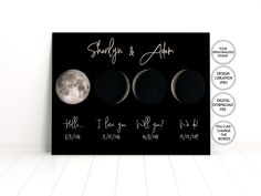 Moon phases map print Couples gift,One year Anniversary Gift for Boyfriend,2 year Anniversary gifts for Him,5th Anniversary gift for couples 2 Year Anniversary Gifts For Him, Boyfriend Anniversary Gifts, Diy Gifts For Boyfriend, Custom Map, Couple Gifts, Moon Phases, Moon Map, Map Wedding, Gift Ideas