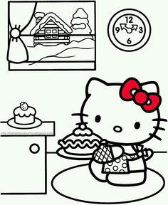 Halloween Color Pages Free Printable Hello Kitty