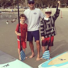 Hobie Surf Shop Ambassador Jim Sanders out for a couple hot laps with the family on SUPs! Sunday Funday perfection, even with a fwe clouds i...