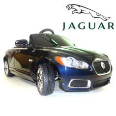 metallic dark blue official jaguar xfr kids 6v ride on car 19995