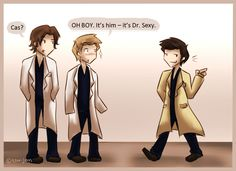 Cas is Dr. Sexy by Star-Jem.deviantart.com on @DeviantArt   haha! love this