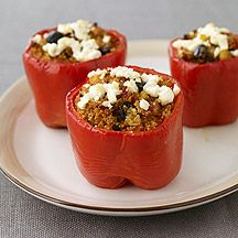 weight watchers Stuffed Peppers with Mediterranean-Spiced Quinoa
