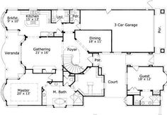 Home plans square feet and separate on pinterest for House plans with separate guest house