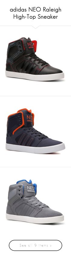 """""""adidas NEO Raleigh High-Top Sneaker"""" by rachkinou ❤ liked on Polyvore featuring shoes, sneakers, men, mens shoes, tenis, adidas shoes, high top trainers, adidas high tops, high top shoes and adidas"""