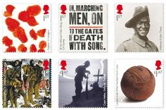 Royal Mail presents the second part of its landmark, commemorative programme marking the outbreak of the First World War. Each year of the war is explored though a stamp which covers six key themes: Poppies, Poetry, Portraits, War Art, Memorials and Artefacts.