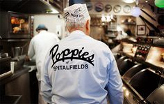 Credit: Michael Thomas Jones 'I started in the fish and chips business in the 1950s, when I was 11 years old' says Poppies owner Pat 'Pops' Newland. 'I'd retired, but then this site near Spitalfields came up. I'd always said that I'd love to run my own fish and chip shop. And after all those years I knew exactly how I'd have it...' #Guardian Newspaper