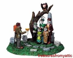 Lemax Spooky Town FUNERAL PHOTO #93713 NRFB Halloween Table Accessory Retired