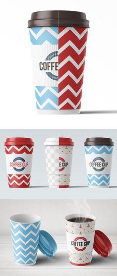 Paper Coffee Cup Mock-up Coffee Cup Art, Coffee Cup Design, To Go Coffee Cups, Coffee Logo, Coffee Shop, Mockup Templates, Brochure Template, Tea Packaging, Packaging Design