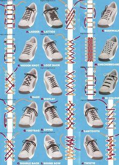 【この図解は保存したい】靴ひもの結び方を一覧にした画像がおもしろい! | COROBUZZ