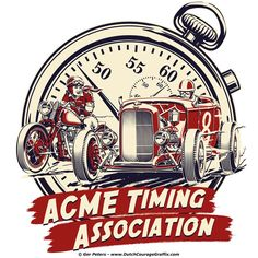 T-shirt design under the art direction of John and Cynthia over at ACME Speed Shop #hotrod #hot #rod #apparel #ACME #timing #association #Tshirt #art