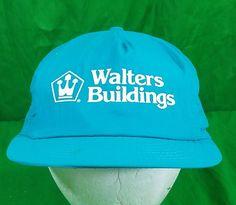 Vtg Walters Buildings Hat Nylon Swingster USA Made Snapback Cap  fashion   clothing  shoes b0415c65b17c
