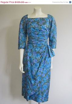 Wiggle Dress 1960s/ Milton Lippmann/ Mad Men by TheThriftingMagpie, $106.25