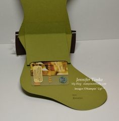 Stampin' Up! Stocking Die gift card holder