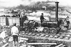 The First Steam Locomotive Circa 1830
