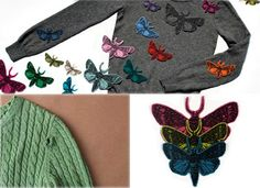 Patch things up with clever cashmere appliques from cashmere outfitter Stella Neptune