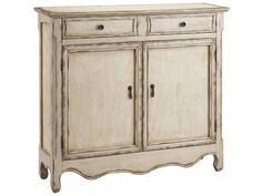 Shop for Stein World Cupboard, 28210, and other Living Room Cabinets at Stein World in Memphis, TN. Narrow two door, two drawer cupboard with fixed interior shelf hand painted in a vintage creamy finish with tan rub through and slight distressing.