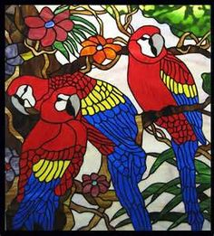 stained glass parrots - Yahoo Image Search results