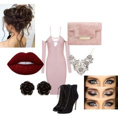 Party Time by lookattheseasonschange on Polyvore featuring Erica Lyons and Lime Crime