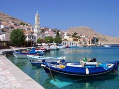 Halki, Greece - probably my favorite place ever! have been there 7 times and is is so beautiful. everyone is so lovely there and the weather is amazing! if you havent been there, you must go at some point! Santorini Villas, Places In Greece, Sister Cities, Tarpon Springs, Corfu, Greece Travel, Luxury Villa, Greek Islands, Beautiful Islands