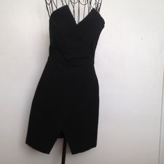 "Stunning Little black Dress Back side is polyurethane, front is polyester. 19"" from waist to bottom.  Never worn. Zara Dresses Strapless"