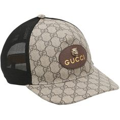 fc0b75969330 Gucci Men Coated Original Gg Tiger Trucker Hat ( 355) ❤ liked on Polyvore  featuring men s fashion